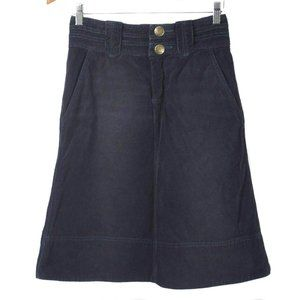 MARC JACOBS Navy Blue Corduroy Knee Length Skirt
